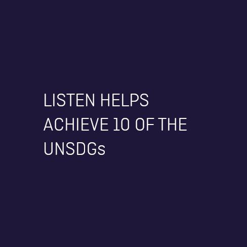 listen helps UNSDGs
